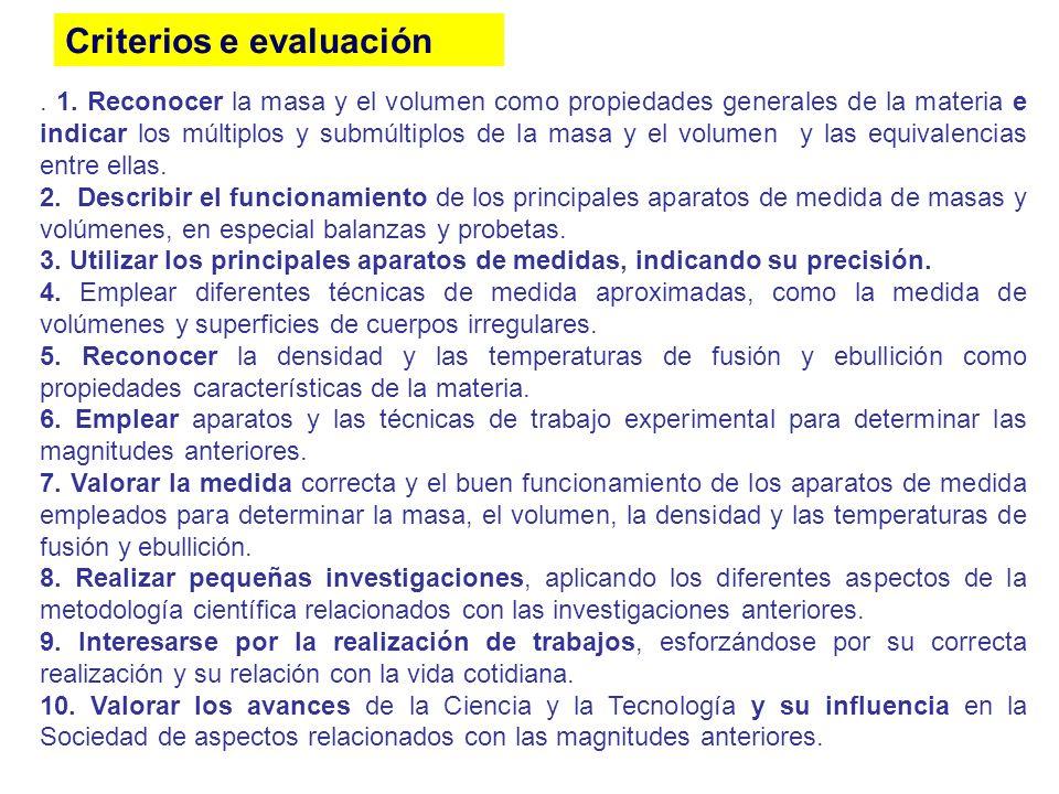 Criterios e evaluación