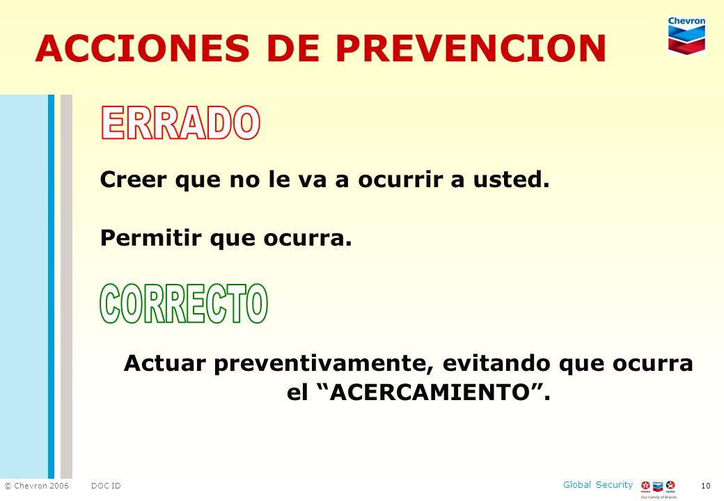 ACCIONES DE PREVENCION