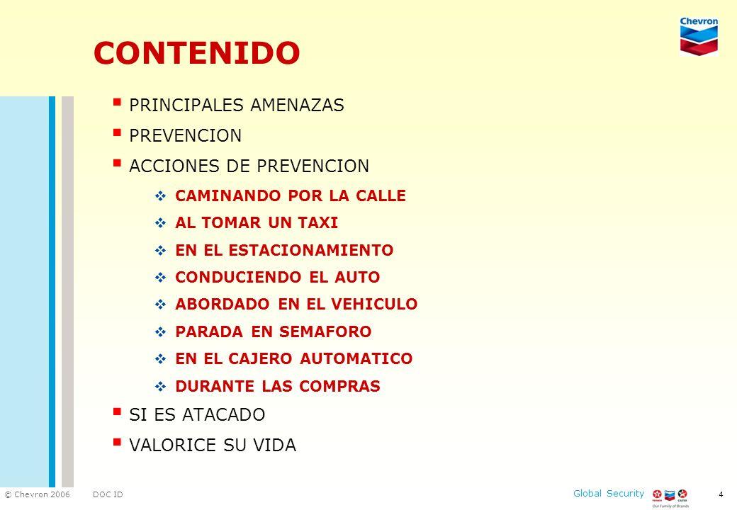 CONTENIDO PRINCIPALES AMENAZAS PREVENCION ACCIONES DE PREVENCION