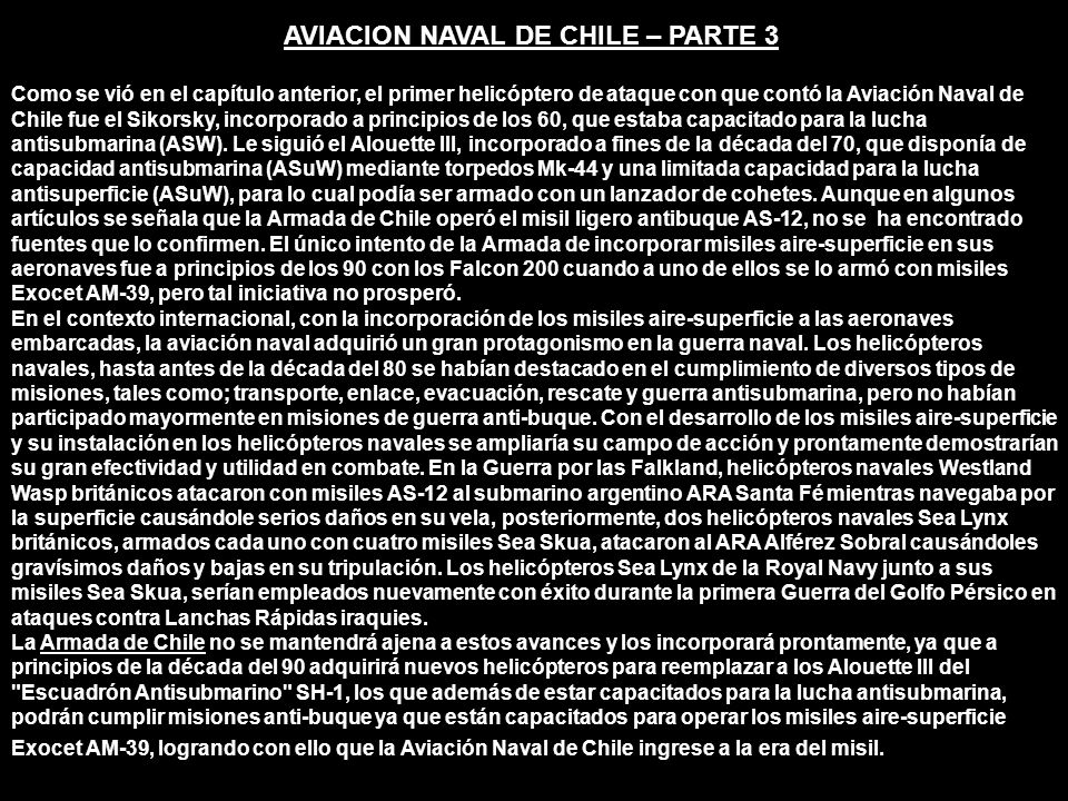 AVIACION NAVAL DE CHILE – PARTE 3