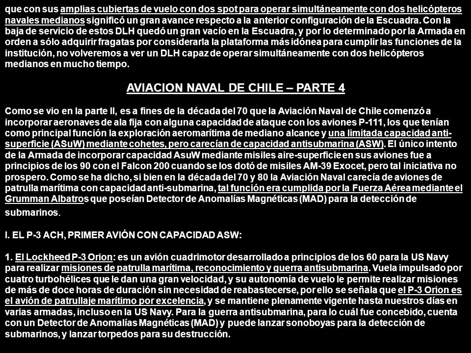 AVIACION NAVAL DE CHILE – PARTE 4