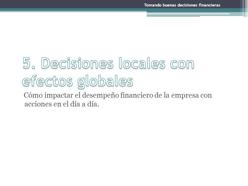 Tomando buenas decisiones financieras