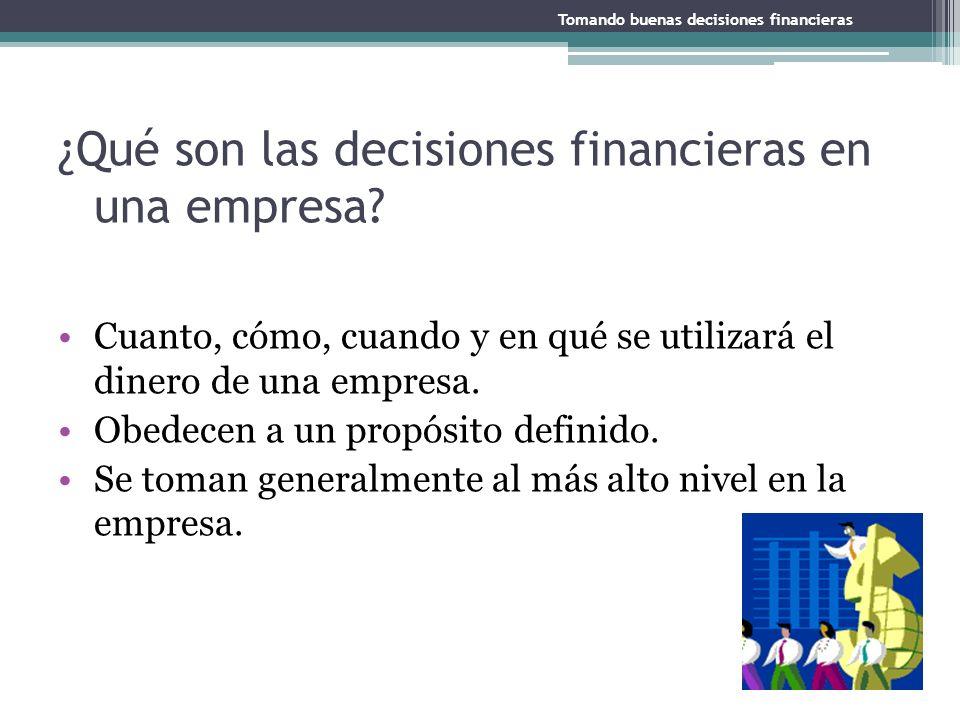 ¿Qué son las decisiones financieras en una empresa