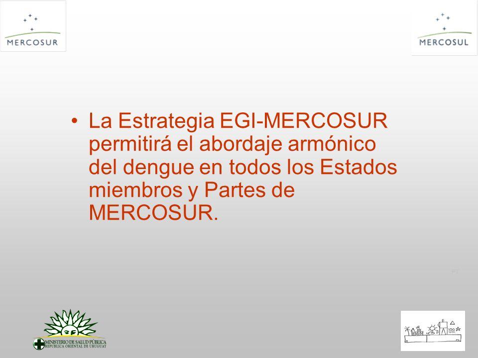La Estrategia EGI-MERCOSUR permitirá el abordaje armónico del dengue en todos los Estados miembros y Partes de MERCOSUR.
