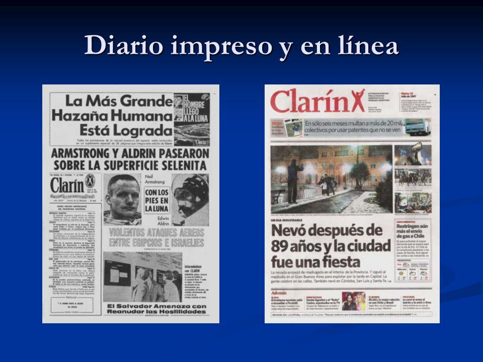 Diario impreso y en línea