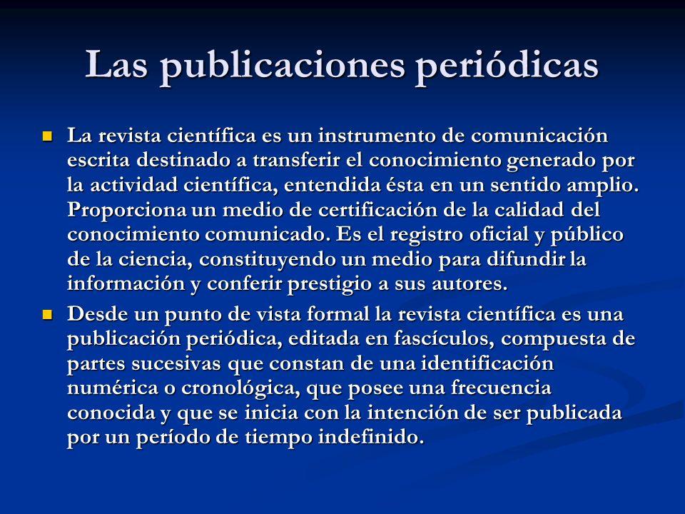 Las publicaciones periódicas