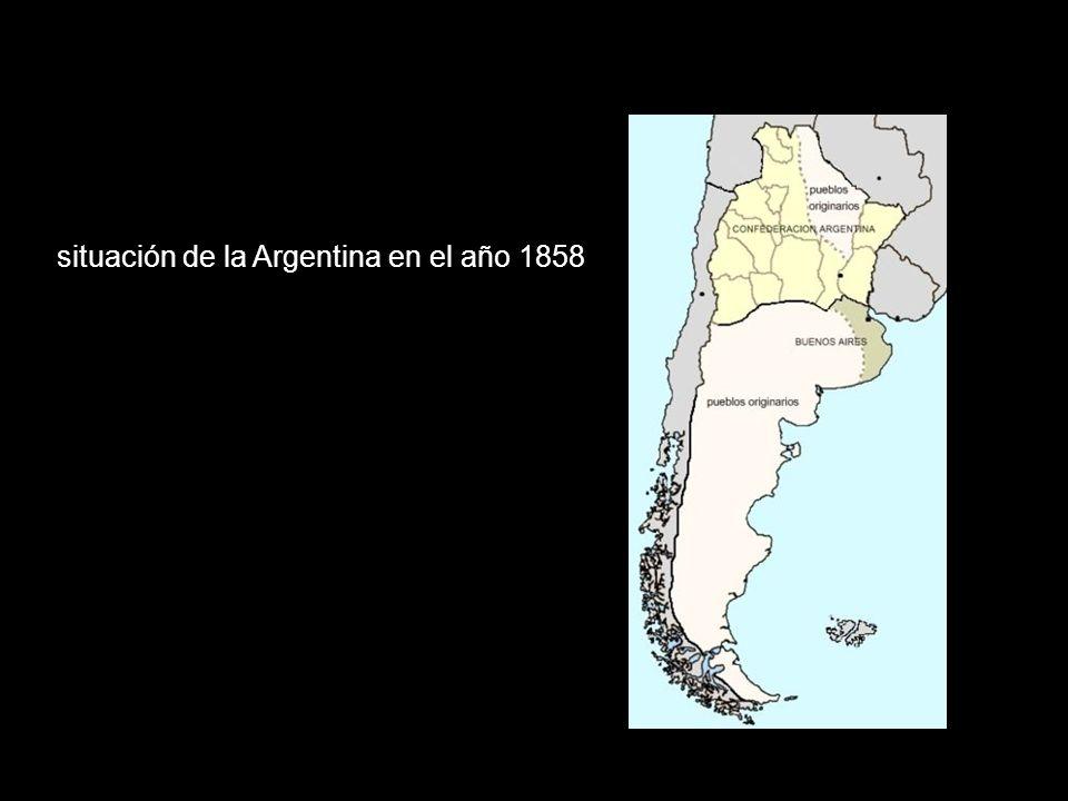 situación de la Argentina en el año 1858