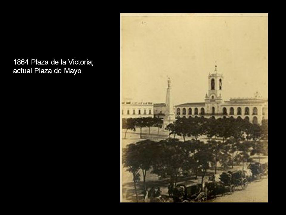 1864 Plaza de la Victoria, actual Plaza de Mayo
