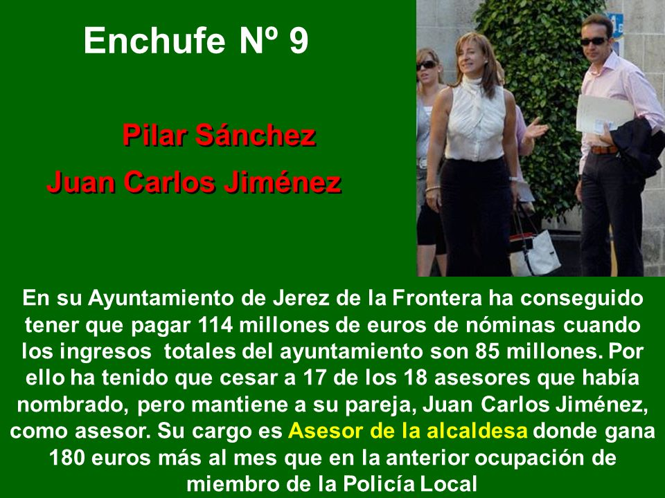 Enchufe Nº 9 Juan Carlos Jiménez Pilar Sánchez