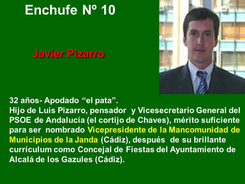 Enchufe Nº 10 Javier Pizarro 32 años- Apodado el pata .