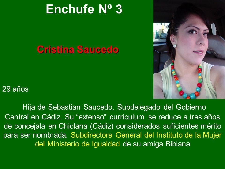 Enchufe Nº 3 Cristina Saucedo