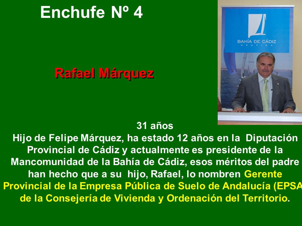 Enchufe Nº 4 Rafael Márquez
