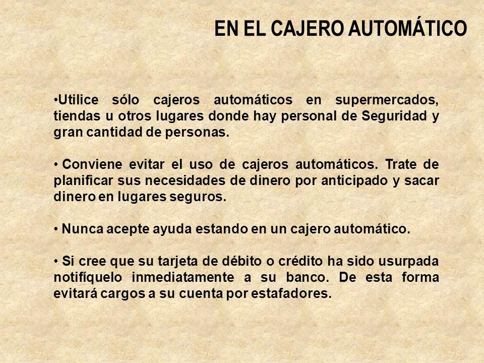 EN EL CAJERO AUTOMÁTICO