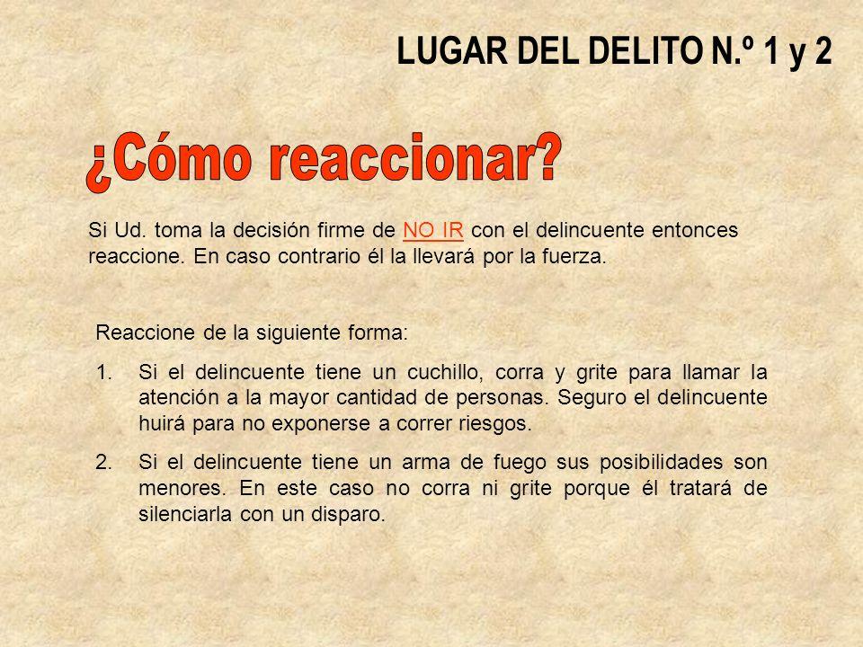 ¿Cómo reaccionar LUGAR DEL DELITO N.º 1 y 2