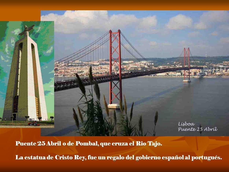 Puente 25 Abril o de Pombal, que cruza el Rio Tajo.