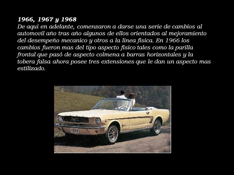 1966, 1967 y 1968