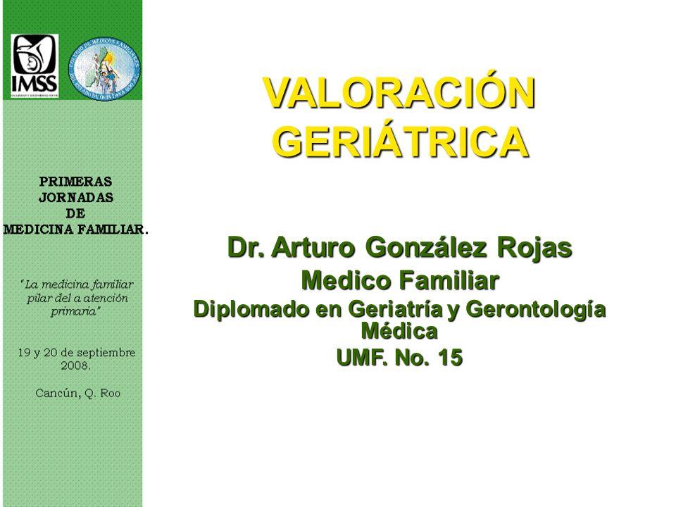 VALORACIÓN GERIÁTRICA