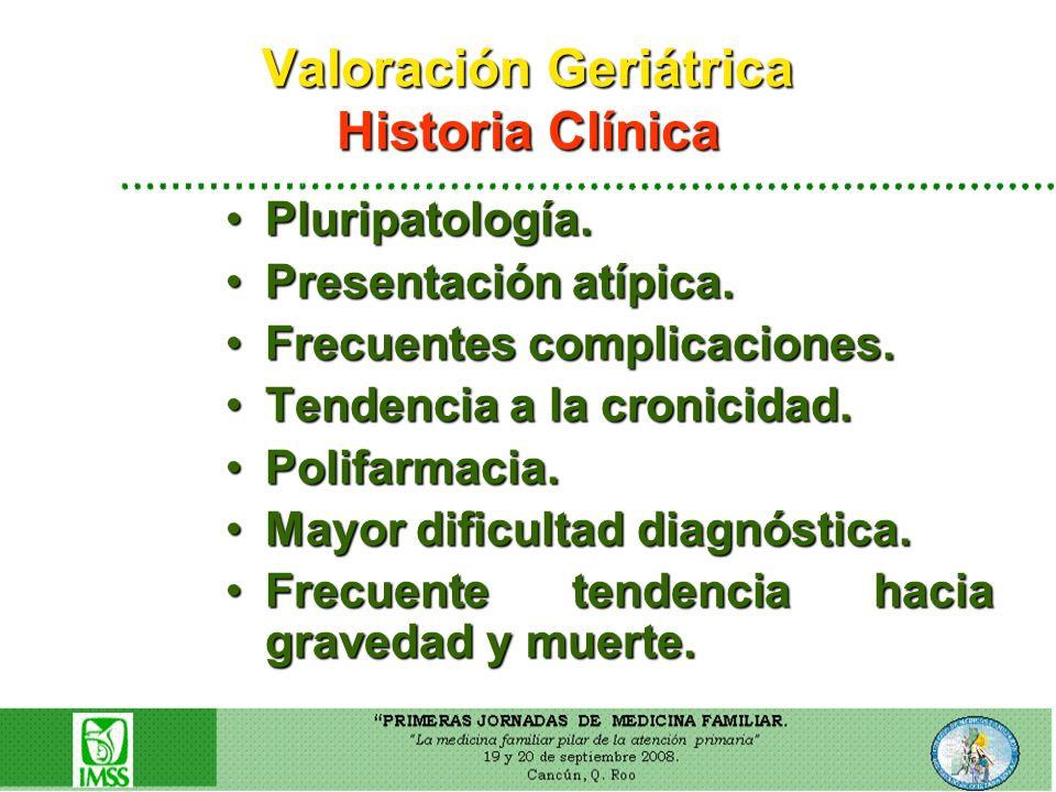Valoración Geriátrica Historia Clínica