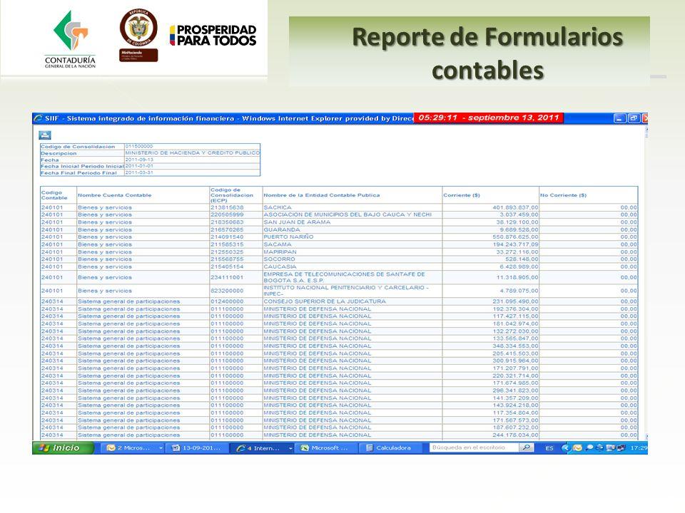 Reporte de Formularios contables