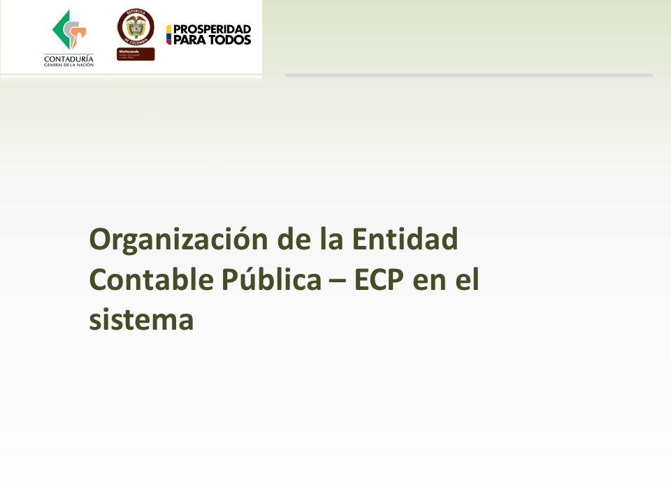 Organización de la Entidad Contable Pública – ECP en el sistema