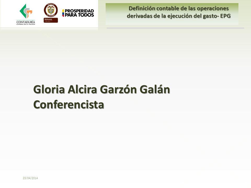Gloria Alcira Garzón Galán Conferencista