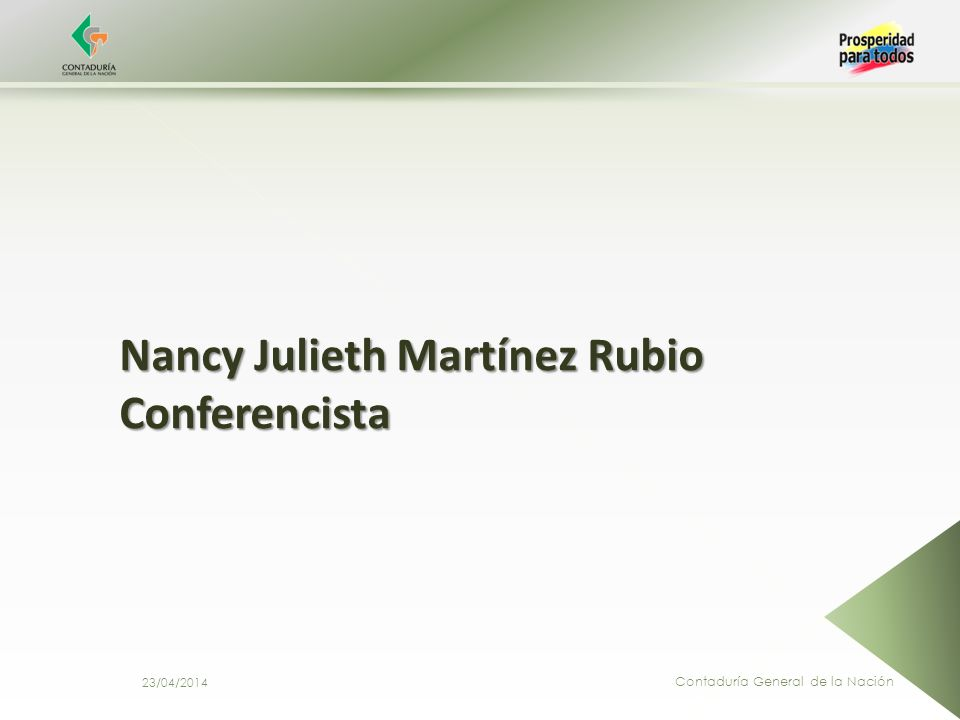 Nancy Julieth Martínez Rubio Conferencista