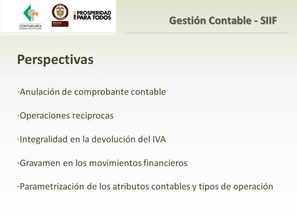 Gestión Contable - SIIF