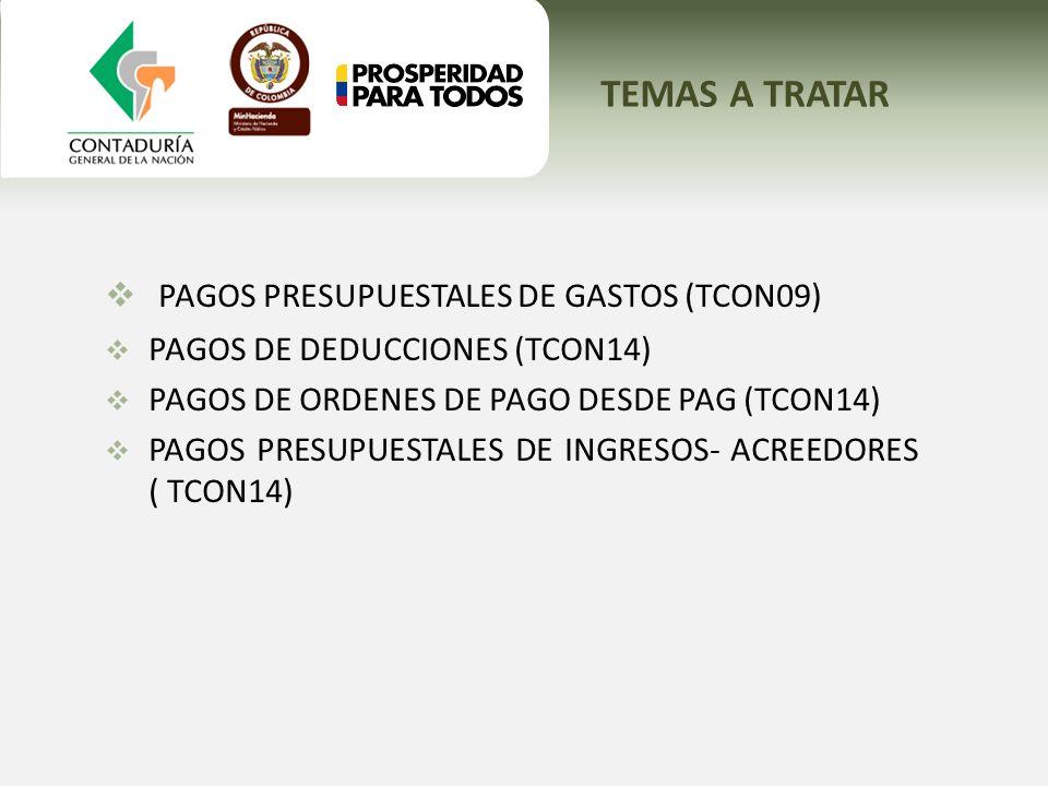 PAGOS PRESUPUESTALES DE GASTOS (TCON09)