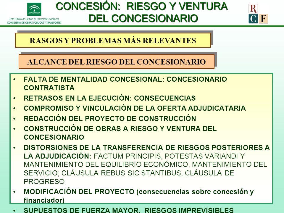 CONCESIÓN: RIESGO Y VENTURA DEL CONCESIONARIO