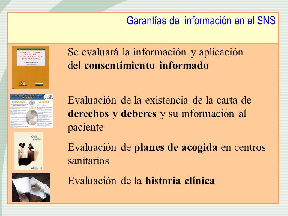 Garantías de información en el SNS