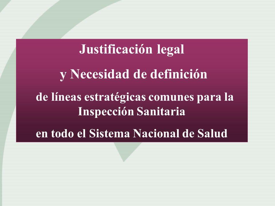 Justificación legal y Necesidad de definición