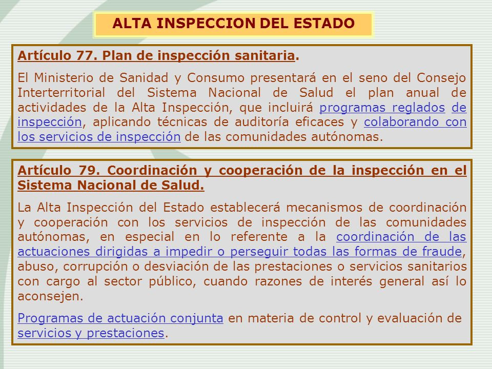 ALTA INSPECCION DEL ESTADO