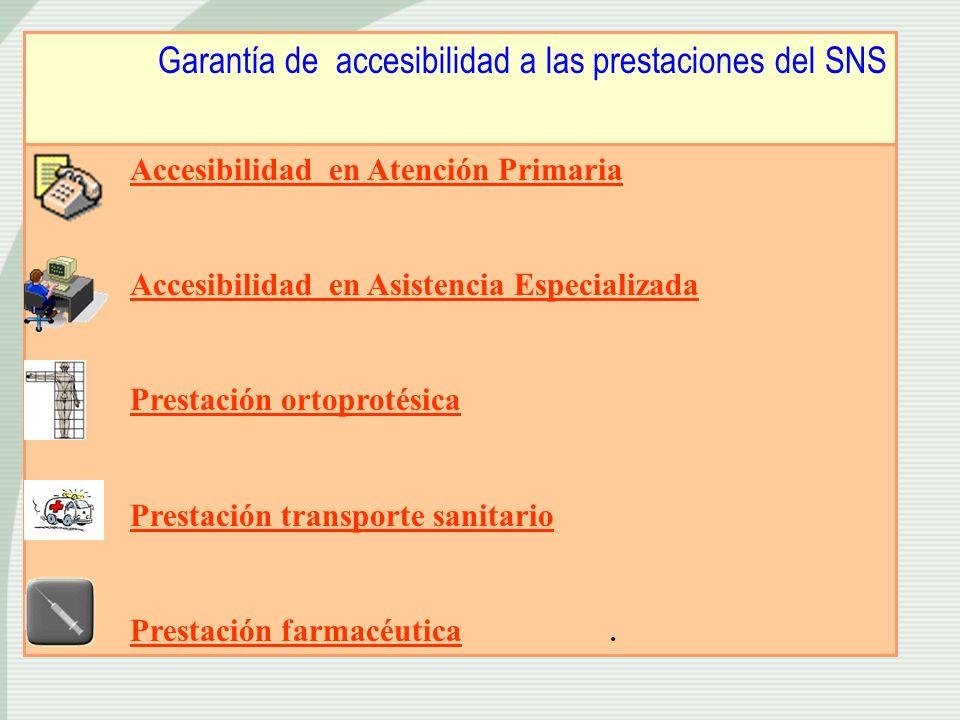 Garantía de accesibilidad a las prestaciones del SNS