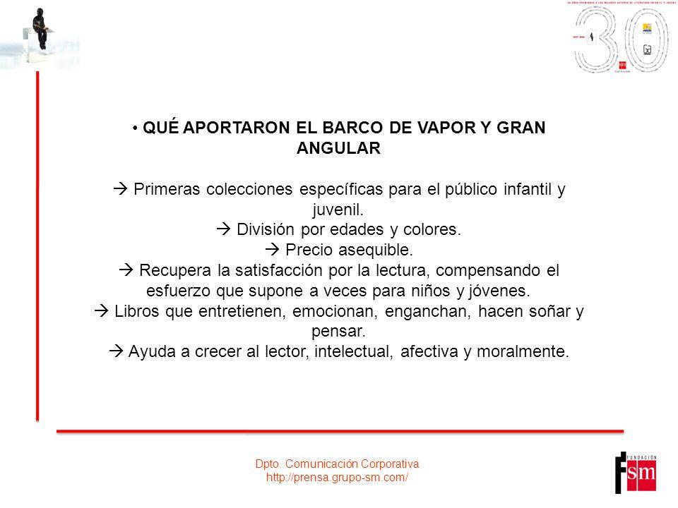 QUÉ APORTARON EL BARCO DE VAPOR Y GRAN ANGULAR