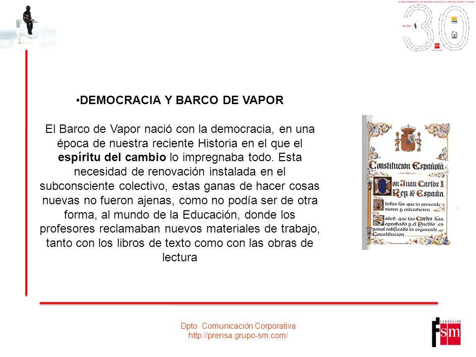 DEMOCRACIA Y BARCO DE VAPOR