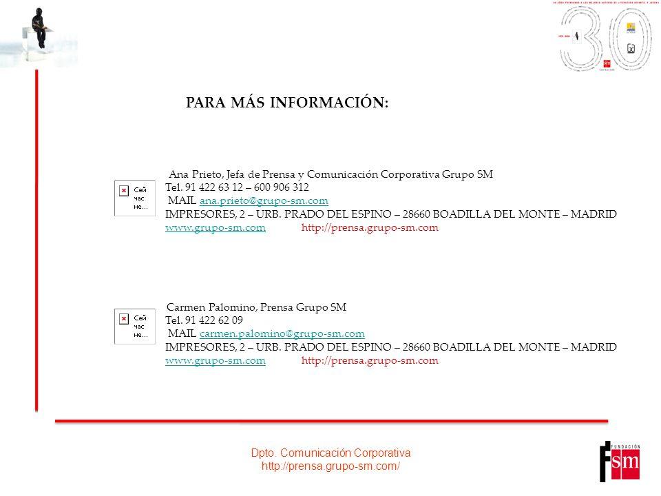 Dpto. Comunicación Corporativa