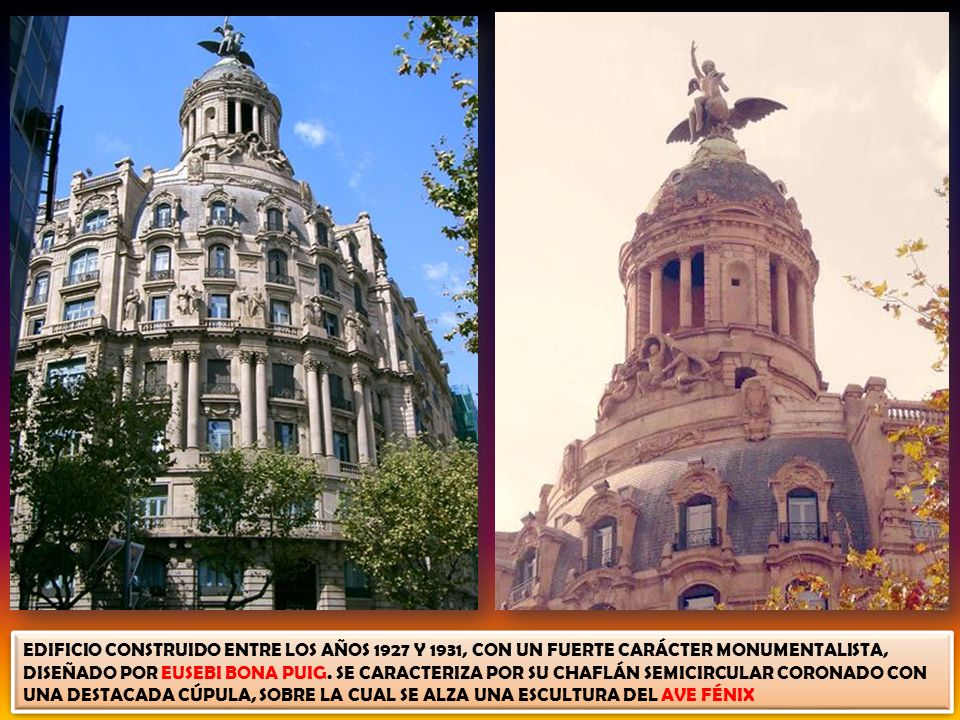 EDIFICIO CONSTRUIDO ENTRE LOS AÑOS 1927 Y 1931, CON UN FUERTE CARÁCTER MONUMENTALISTA, DISEÑADO POR EUSEBI BONA PUIG.