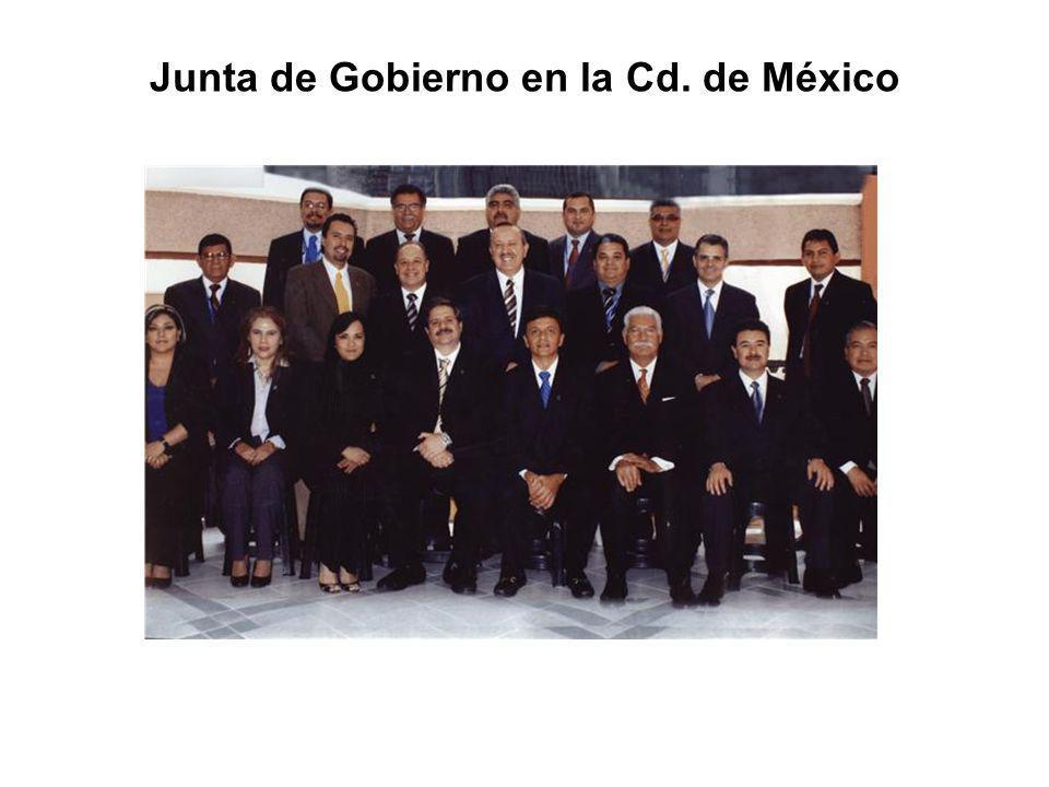 Junta de Gobierno en la Cd. de México