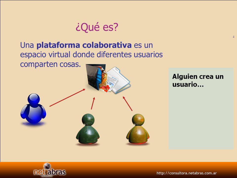 ¿Qué es Una plataforma colaborativa es un espacio virtual donde diferentes usuarios comparten cosas.