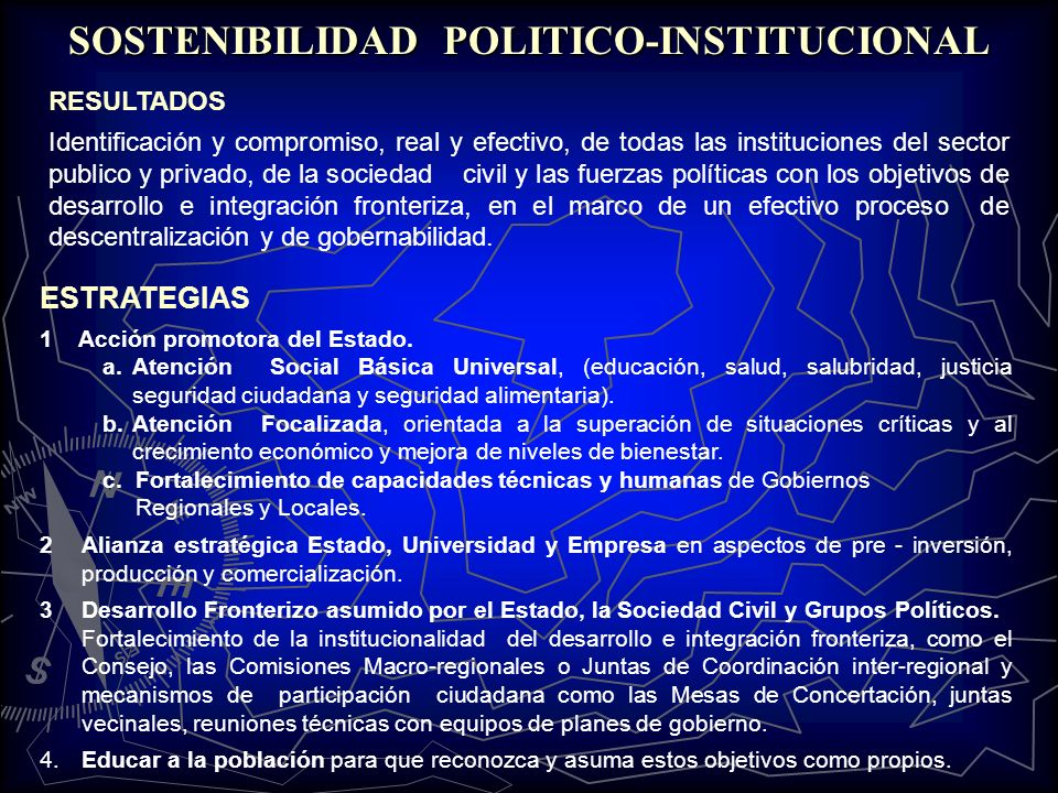 SOSTENIBILIDAD POLITICO-INSTITUCIONAL
