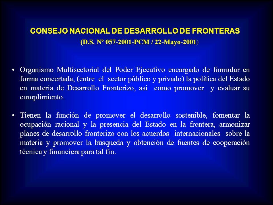 CONSEJO NACIONAL DE DESARROLLO DE FRONTERAS