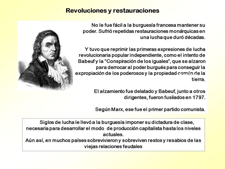 Revoluciones y restauraciones