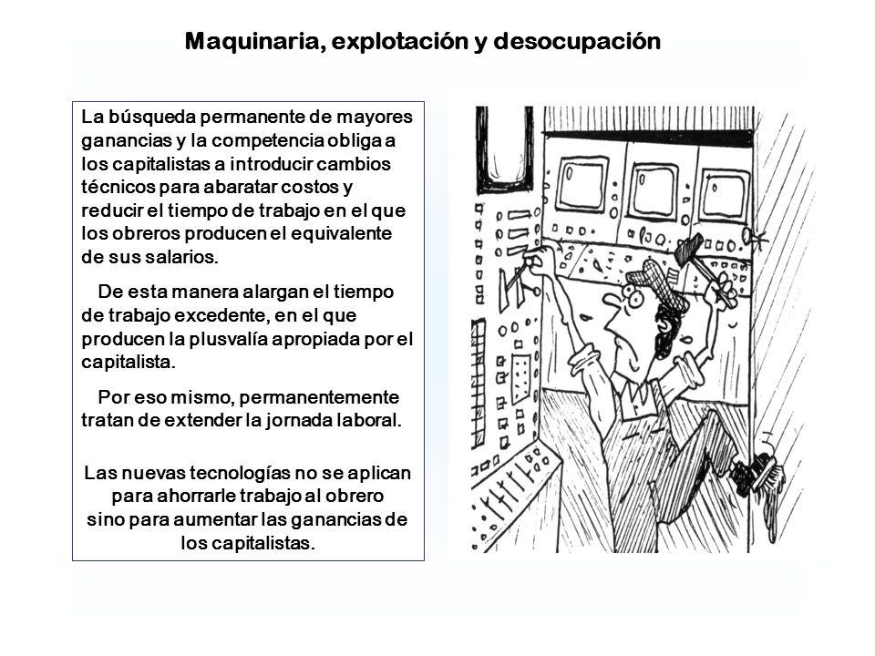 Maquinaria, explotación y desocupación