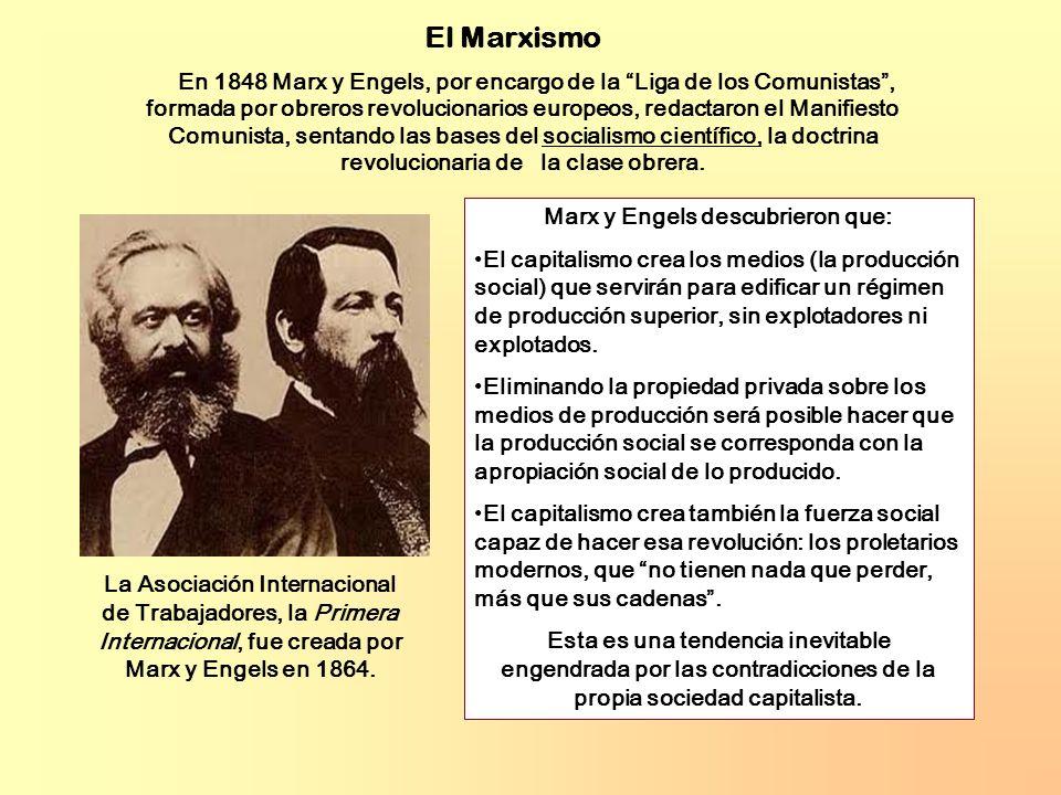 Marx y Engels descubrieron que: