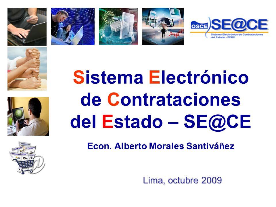 Sistema Electrónico de Contrataciones del Estado – SE@CE