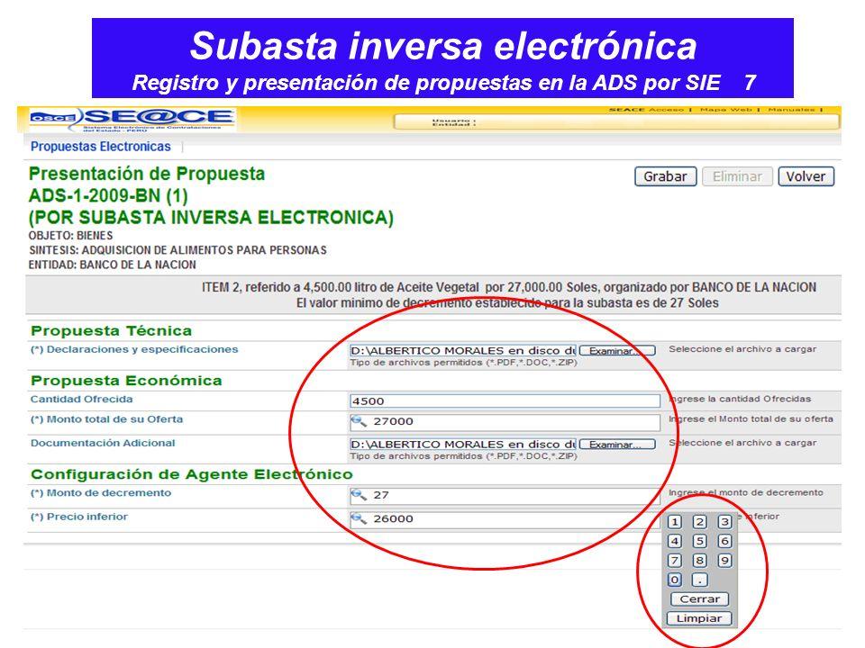Subasta inversa electrónica