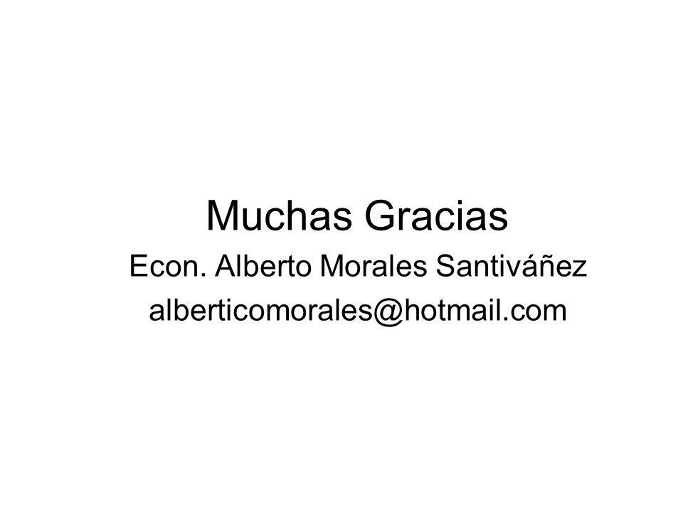 Econ. Alberto Morales Santiváñez