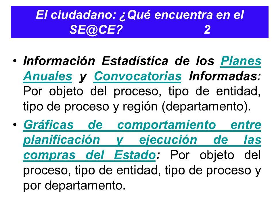 El ciudadano: ¿Qué encuentra en el SE@CE 2