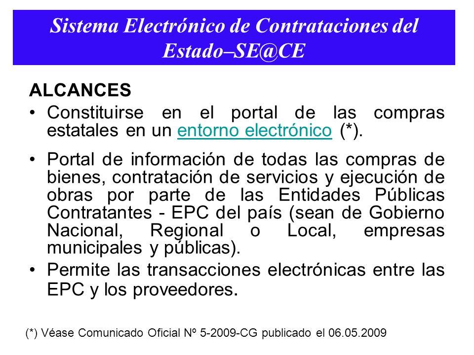 Sistema Electrónico de Contrataciones del Estado–SE@CE