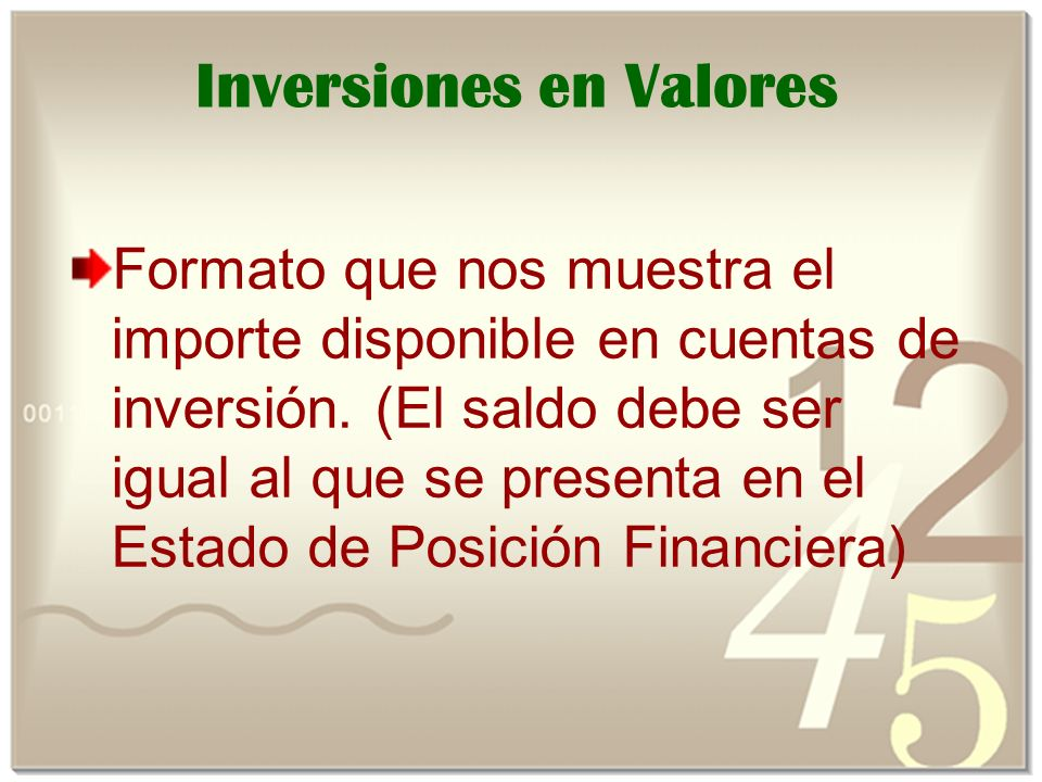 Inversiones en Valores